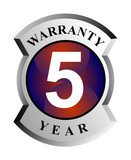 5 year warranty shield poster