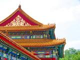 Pékin, Chine, Toit décoré , Cité Interdite poster