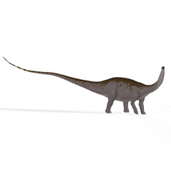 Brontosaurus with clipping path