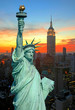 The Statue of Liberty and New York City skyline - 5681456