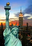 Fototapety The Statue of Liberty and New York City skyline