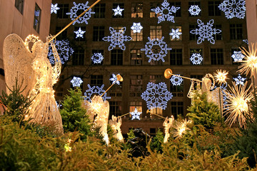 The Christmas decorations in The Rockefeller Center