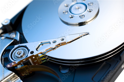 Close up of modern opened hard disk drive - 5684637