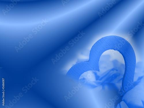 Hintergrund: Blaues Herz
