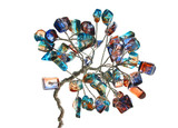 Handmade tree from jewelry stones made from glass  poster