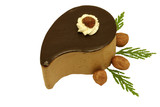 Hazelnut and chocolate mousse cake poster
