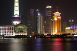 Night view of Shanghai, China poster
