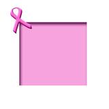 pink ribbon scrapbook poster