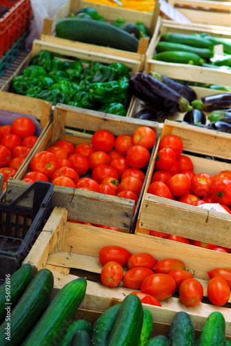 Fresh vegetables for sale on french farmers market