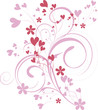 ornamental valentine background - vector