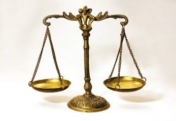 An antique scale that in formation of balance..Justice scale...