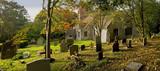 churchyard beoley church warwickshire midlands poster