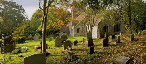 poster of churchyard beoley church warwickshire midlands