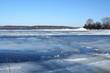 Drifting Ice on river volga