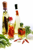 Oil infusions and preserved fruit and vegetables poster