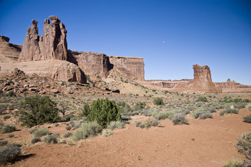 The Three Gossips and Sheep Rock - Arches National Park