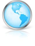 Planète terre avec contour métal poster