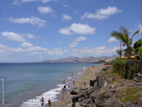 canvas print picture Playa Grande in Puerto del Carmen - Lanzarote