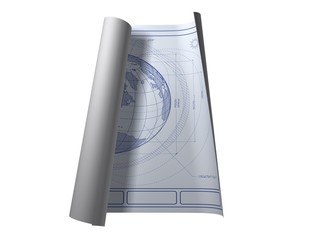 Architectural plans for earth