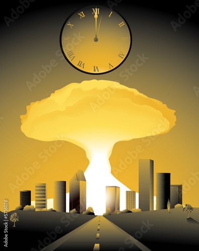 doomsday, with a nuclear bomb going off in a city