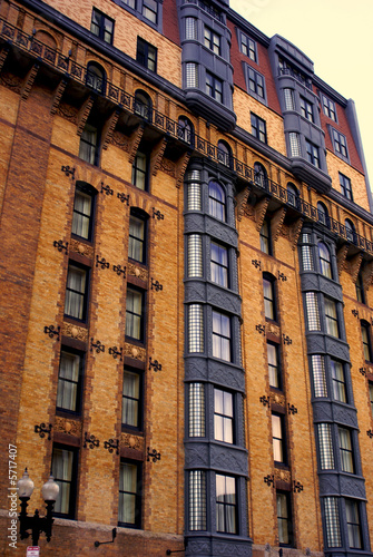 very ornate and colorful apartment building in  boston