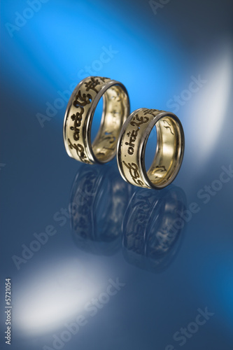 text wedding bands