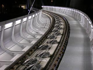 Schienen standseilbahn zur hungerburg in innsbruck