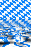 Bavaria flag with water reflection
