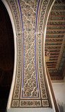Decorative palace wall and ceiling Morocco North Africa. poster