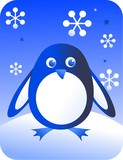 retro penguin