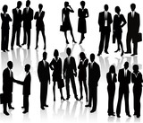 Lots of people. Business Team (vectors)