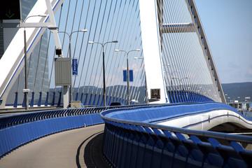 Moder Apollo bridge in Bratislava,Slovakia