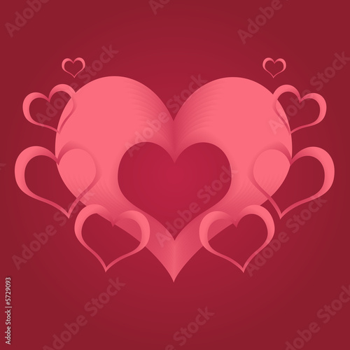 Abstract Valentine Hearts