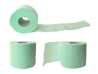 three rolls og green soft toilet paper