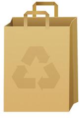 Sac en papier recyclable