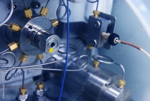 Leinwandbild Motiv Close-up of an HPLC instrument pump