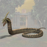 Fantasy Snake - Image contains a Clipping Path