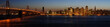 A stitched image of Bay Bridge and San Francisco downtown