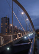 night view of the squinty bridge in glasgow 2