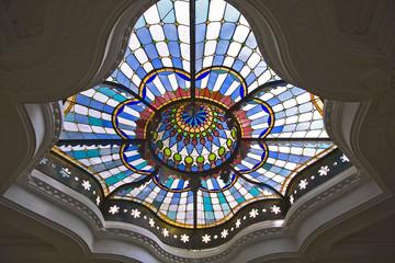 plafond du musée des arts décoratifs, budapest
