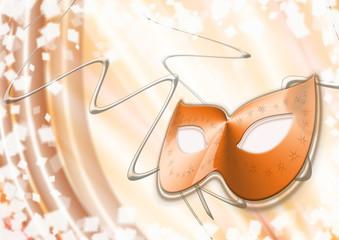 maschrina carnevale arancione