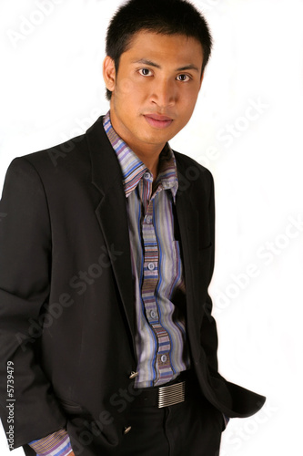 a man from asia in pose
