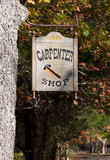 A colonial carpenter shop sign