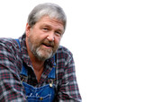 grey haired bearded farmer poster