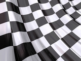 Fototapety Glossy Flag of End of Race