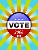 Vote button - presidential elections button poster
