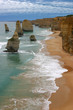 Twelve apostles sea rocks in Australia