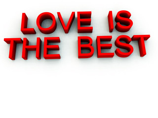 Love Is the Best Word