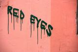 Strange grunge wall graffiti inscription in Budapest poster