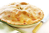 Home-baked apple pie, straight from the oven poster